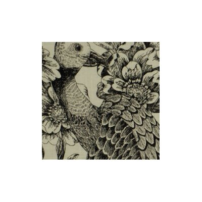 Etched Aviary Fabric - Jet