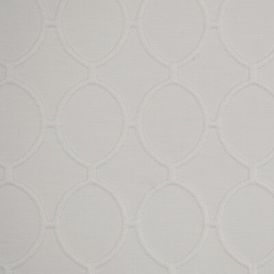 Cameo Ovals Fabric - Bleached White