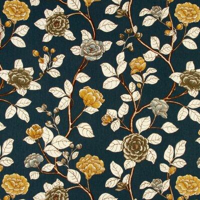 Leda Peony Fabric - Midnight