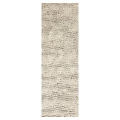 Hallein Rug in Stone Rug Size: Runner 26 x 8
