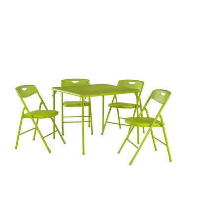 5 Piece Dinning Set Finish Apple Green