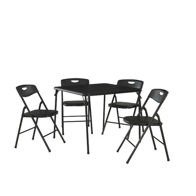 5 Piece Dinning Set Finish: Black