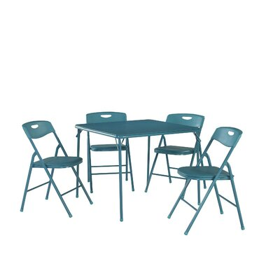 5 Piece Dinning Set Finish: Teal