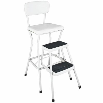 Retro 24 Bar Stool Upholstery: White