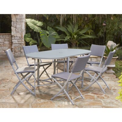 Slusser 7 Piece Dining Set Finish: Platinum