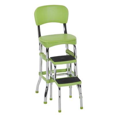 Boomer 24 Bar Stool Upholstery: Green