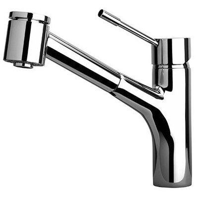 Elba Single Handle Kitchen Faucet with 2 Function Sprayer, Stream and Spray Finish: Chrome
