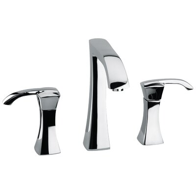 Lady Double Handle Deck Mount Widespread Lavatory Faucet with Drain Assembly Finish: Chrome