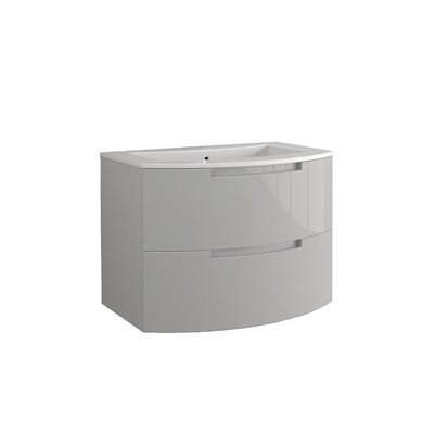 Oasi 39 Single Vanity Set Base Finish: Gray