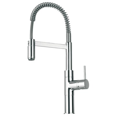 Elba Single Handle Deck Mount Faucet with Spring Spout Finish: Chrome