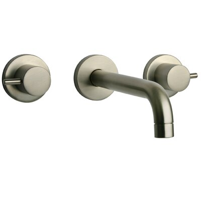 Elba Lavatory Faucet Double Handle Finish: Brushed Nickel