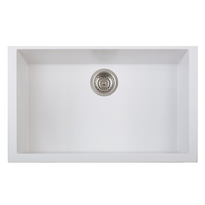 One Series Single Basin Undermount Version Kitchen Sink Finish: Milk White