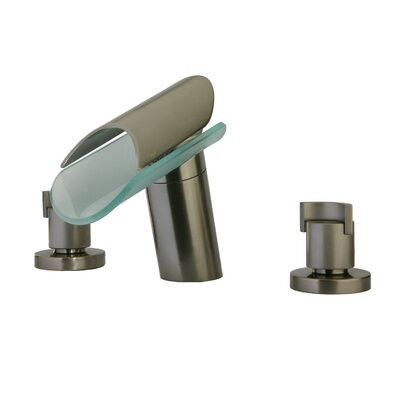 Morgana Double Handle Deck Mount Widespread Lavatory Faucet with Spout Finish: Brushed Nickel