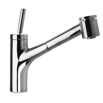 Elba Single Handle Kitchen Faucet with 2 Function Sprayer, Stream and Spray Finish: Brushed Nickel