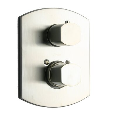 Novello Volume Thermostatic Valve Finish: Brushed Nickel