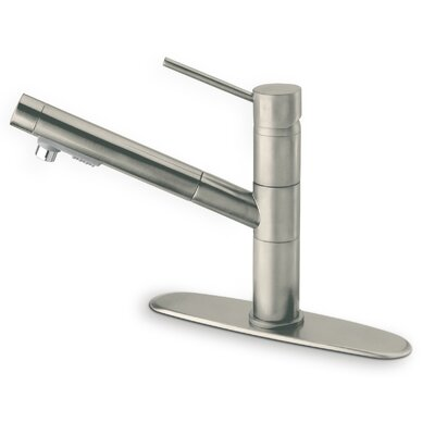 Elba Single Handle Kitchen Faucet with Pull-Out Spray Finish: Brushed Nickel