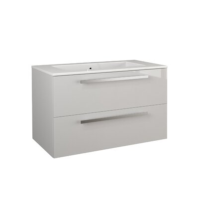 Ambra 33.86 Single Vanity Base Finish: White