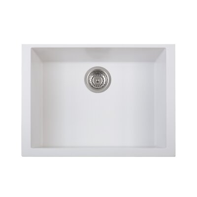 One Series 23 X 18 Single Basin Undermount Version Kitchen Sink Finish: Milk White