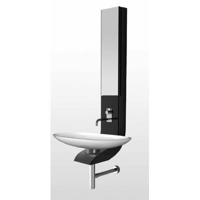 La Fontana Half Column Bath 19 Wall mount Bathroom Sink Finish: Black