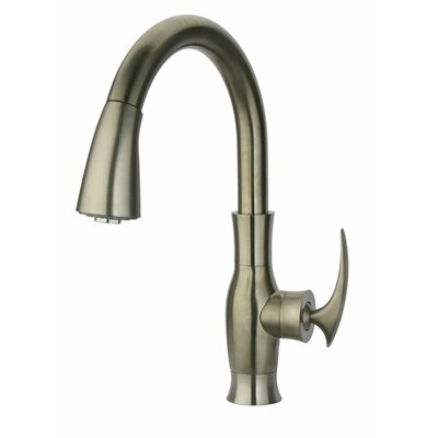 Firenze Single Handle Kitchen Faucet with Pull-Down Spray Finish: Brushed Nickel