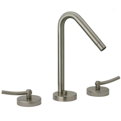 Morellino Widespread Lavatory Faucet Double Handles Deck Mount with Rotating Spout Finish: Brushed Nickel