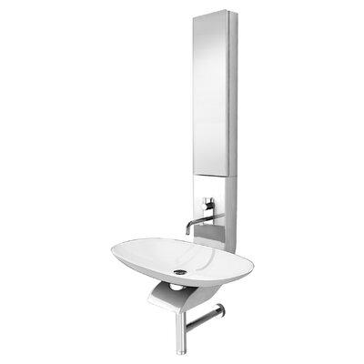 La Fontana Half Column Bath 19 Wall mount Bathroom Sink Finish: White