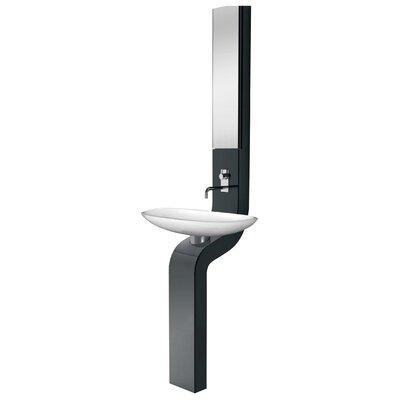 La Fontana Full Column Bath 9 Wall mount Bathroom Sink Finish: Black