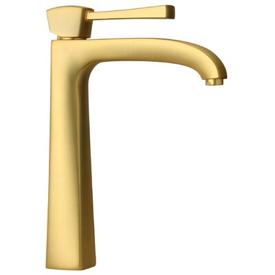 Lady Single Handle Tall Lavatory Faucet Finish: Satin Gold