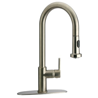 Elix Single Handle Kitchen Faucet with Pull-Down Spray Finish: Chrome