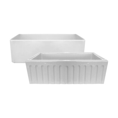 30 x 18 Fireclay Farmhouse Reversible Kitchen Sink