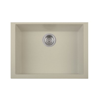 One Series 23 X 18 Single Basin Undermount Version Kitchen Sink Finish: Sahara