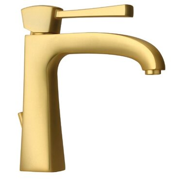 Lady Vessel Faucet Single Handle Finish: Satin Gold