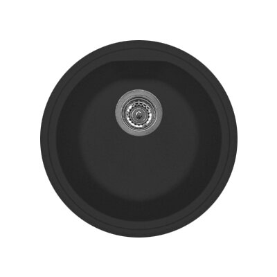 Atlantic 17 x 14 Series Single Basin Round Drop Kitchen Sink Finish: Matt Black