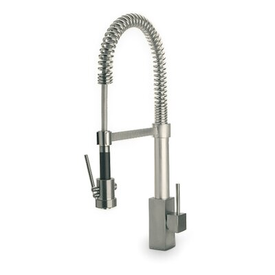 Dax Single Handle Deck Mount Faucet with Spring Spout Finish: Brushed Nickel