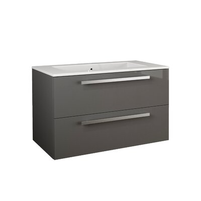 Ambra 33.86 Single Vanity Base Finish: Grey