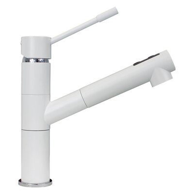 Single Handle Deck Mounted Pull Out Faucet Finish: Milk White