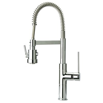 Elba Single Handle Kitchen Faucet with Pull-Out Spray Finish: Chrome
