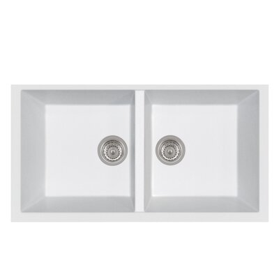 Elegance Series Rectangular Undermount Bathroom Sink Finish: Milk White