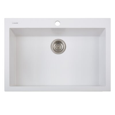 One Series 30 x 20 Single Basin Drop in Version Kitchen Sink Finish: Milk White