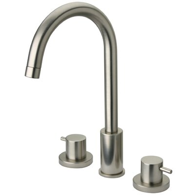 Elba Lavatory Faucet Double Handle Finish: Brushed Nickel
