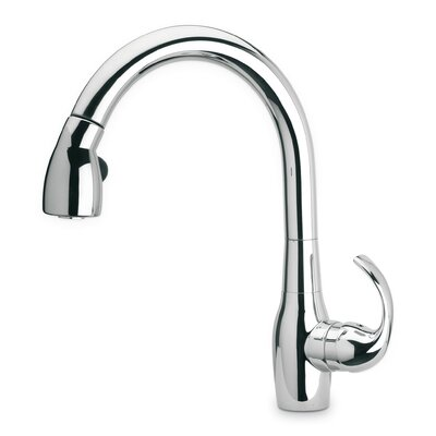 Petrarca Single Handle Deck Mounted Kitchen Faucet with Pull-Down Spray Finish: Chrome
