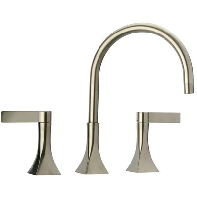 Elix Widespread Lavatory Faucet Double Handle Finish: Brushed Nickel