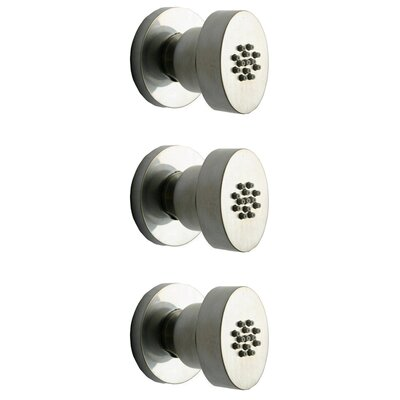 Novello Adjustable Shower Head Body Spray Finish: Brushed Nickel