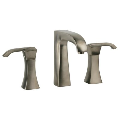 Lady Double Handle Deck Mount Widespread Lavatory Faucet with Drain Assembly Finish: Brushed Nickel