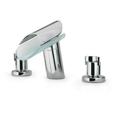 Morgana Double Handle Deck Mount Widespread Lavatory Faucet with Spout Finish: Chrome