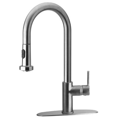 Elix Pull Down Touch Single Handle Kitchen Faucet Finish: Brushed Nickel