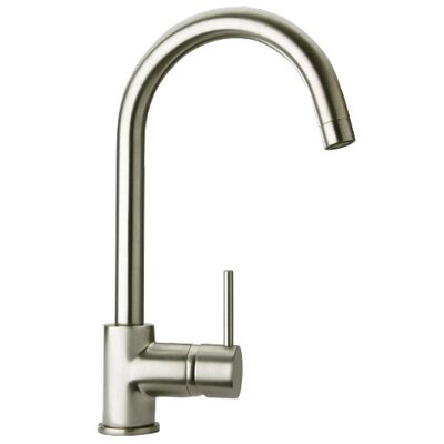 Elba  Lavatory Faucet Single Handle Finish: Brushed Nickel