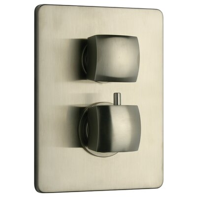 Lady Volume Thermostatic Valve Finish: Brushed Nickel