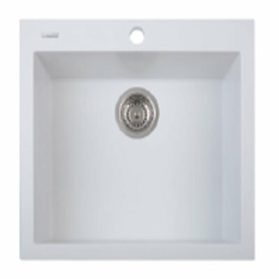 One Series 22.8 x 18.9 Single Basin Drop in Version Kitchen Sink Finish: Milk White