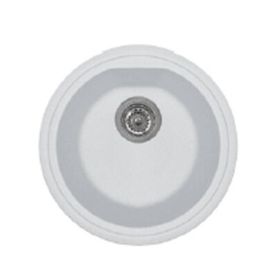 Atlantic 17 x 14 Series Single Basin Round Drop Kitchen Sink Finish: Milk White